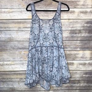 Intimately Free People S blue floral sheer tunic